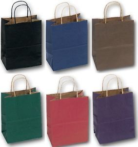 Lots 120 SM Kraft Paper Gift Bags Shopping Wholesale Bags Party Wedding Supplies