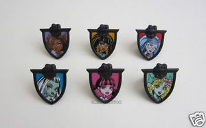 12 Monster High Cup Cake Rings Topper Party Goody Loot Bag Filler Favor Supply