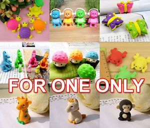 One Pencil Eraser Animal Insect Kid Birthday Party Favor Supply Bag Gift Prize