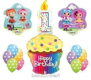 1st Birthday Lalaloopsy Balloons Party Supplies Cupcake Rag Doll Girls Sew First