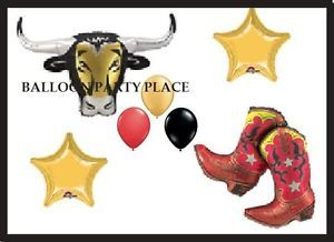 Western Rodeo Balloons Party Supplies Decorations Boot Bull Birthday