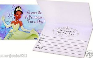 Disney Princess and the Frog Birthday Party Invitations
