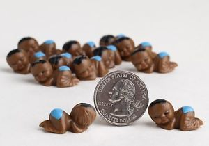 12 Miniature African American Baby Boy Shower Party Favors Supplies Cakes