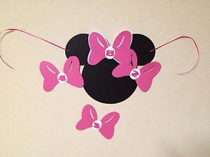 Minnie Mouse Birthday Party Supply Pin The Bow Game Set of 8 OT 16 Pink Red