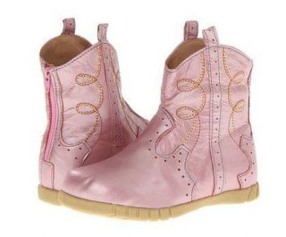 New Livie Luca Buck Shimmery Pink Cowboy Cowgirl Boots Toddler 5