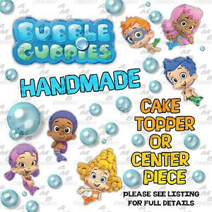 Bubble Guppies Themed Cake Topper Center Piece Party Supplies