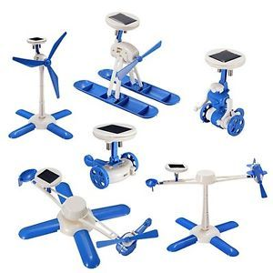 6 in 1 Solar Kit Educational Robotics Car Windmill Airplane Helicopter Boat