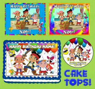 Jake and The Neverland Pirates for Birthday Cake Topper Edible Image Sheet Icing