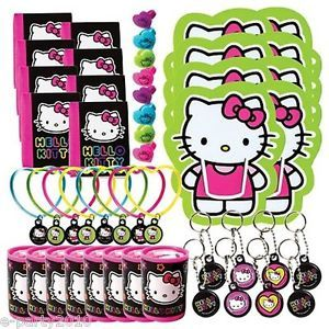 48pc Hello Kitty Neon Tween Favor Pack Birthday Party Supplies Toys