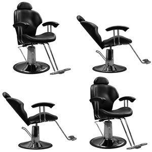4 Beauty Salon Barber Equipment Reclining Hydraulic Hair Styling Chair MP 30BLK