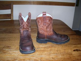 Womens Ariat Fat Baby Western Cowboy Boots 7 B