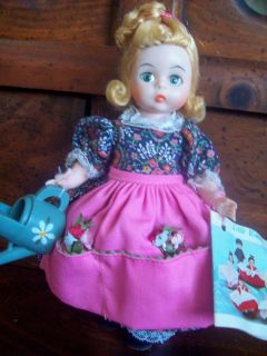 """8"""" Madame Alexander Doll """"Mary Mary"""" and Chair 1976"""