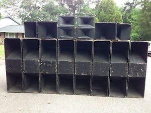 PA Sytem EV 4025 JBL 2445J Horns Mids Bass Enclosures Cabinets AB Power Amps