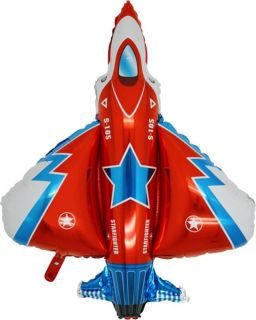 """36"""" Balloon Red Fighter Jet Party Air Force Plane Favors Airplane Army Top Gun"""