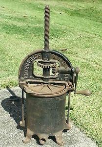 Enterprise Antique Fruit Cider Wine Lard Press Sausage Stuffer Cast Iron