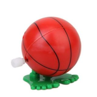 3X Wind Up Toy Jump Basketball w Pair Big Feet for Children Kids Party Game