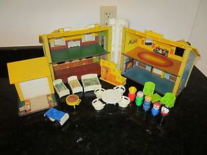 Fisher Price Little People Play Family House Home Living Room Chair Bed 952 P