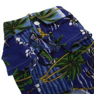 Hawaiian Print Pet Dog Shirt Summer Camp Shirt Party Beach Clothes Apparel M