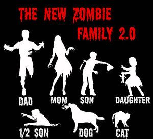 Zombie Decal Stick Figure 2 0 Family Car Graphic Custom Funny Left 4 Dead
