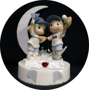 New York Mets Pro Baseball Fans Wedding Cake Topper Fun