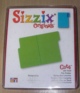 Sizzix Original Red Die in Case File Folder Project Life