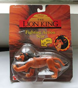 Disney's Lion King Fighting Action Scar Unopened Box Very Good Condition