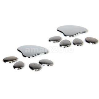 2pcs 3D Cut Dog Paw Footprint Car Decal Emblem Bumper Adhesive Sticker