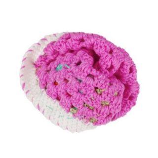 Gorgeous 0 2 Y Infant Baby Toddler Cotton Crochet Flower Hat Cap Beanie Rose