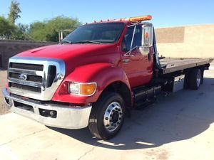 2008 Ford F650 21' Flatbed Rollback Wheel Lift Diesel Tow Truck Wrecker