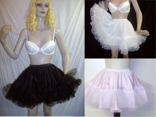 Adult Sissy Baby Real Crinoline Netting Mini Half Slip Skirt Made for You