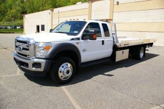 2011 Ford F550 Extended Cab Flatbed Tow Truck