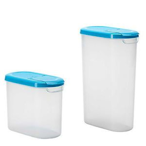IKEA Jamka 2 Plastic Food Storage Containers Cereal Dry Food Tubs with Lids