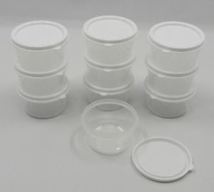 New Sure Fresh 10 Small Mini Plastic Storage Containers for Food Crafts Etc