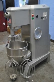 Univex M60 60 Quart All Purpose Dough Mixer Bowl Hook Whip Paddle Attachments