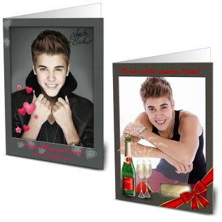 Personalised Justin Bieber Birthday Card Daughter Sister Friend Niece Girl Mom