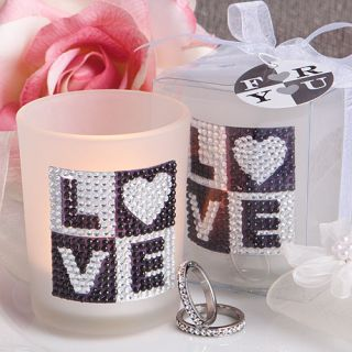100 Love Bling Glass Votive Candle Wedding Bridal Shower Party Favor Bulk Lot