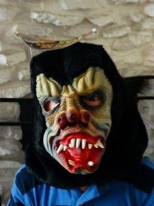 New Nu Skin Mask Adult Full Coverage Halloween Gorilla Ape Costume Face Mask