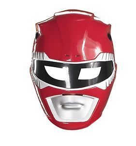 Adult Red Power Rangers Mask Mens Womens Ranger Face Mask Fancy Dress Costume