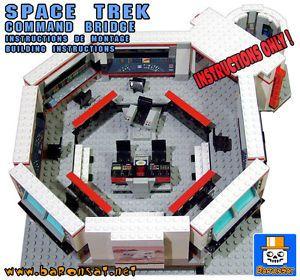 Lego Instructions Custom Star Trek NCC 1701 Enterprise Command Bridge Playset