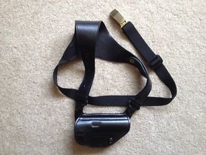 Galco Executive Black Leather Shoulder Holster