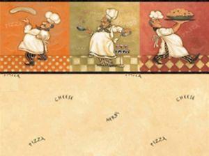 3 Sheets Italian Chef Beige Color Dollhouse Miniature Wallpaper 1 24 Half Inch