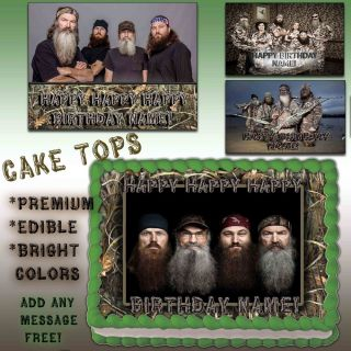 Duck Dynasty Cake Edible Topper Photo Image Icing Happy Birthday Decal Transfer