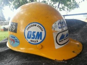 Vintage MSA Hard Hat Helmet Medium Oregon Steel Workers Hardhat Iron Workers