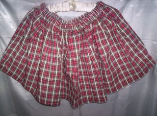 Adult Sissy CD Sexy School Girl Mini Skirt Red Plaid