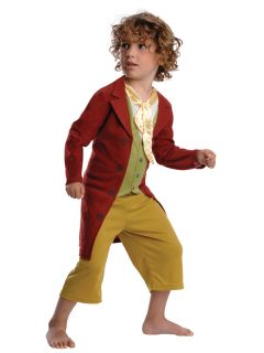 Child Licensed The Hobbit Bilbo Baggins Fancy Dress Costume Kids Boys Male