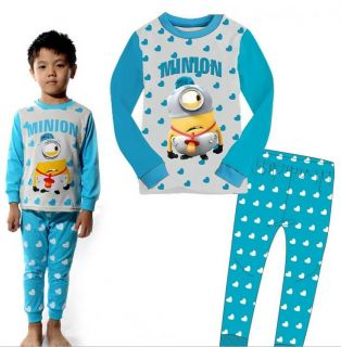 "Baby Kids Boys Girls Suit Sleepwear ""Minions Despicable Me"" Pajama Set Gift 2pcs"