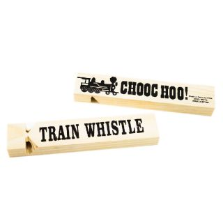 1pc Wooden Train Whistle Locomotive Sound Warning Steam New Wood TOOT TOOT Toy