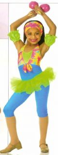 Island Girls Tap Jazz Pageant Dance Costume Child Small