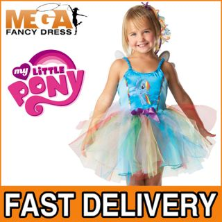 Rainbow Dash My Little Pony Girl's Fancy Dress Tutu Fairy Kids Costume Wings