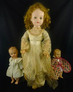 """Vintage Sweet Sue Doll Walker Jointed American Character 24"""" Plus Baby Doll Lot"""